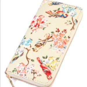 Handbags - Floral & Bird Print Wallet